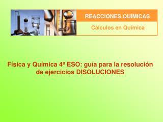 Física y Química 4º  ESO:  guía  para  la resolución de  ejercicios DISOLUCIONES