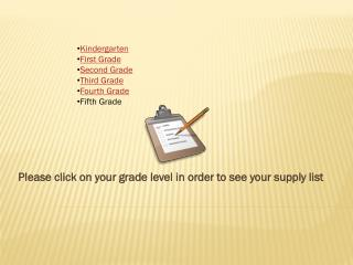 Please click on your grade level in order to see your supply list