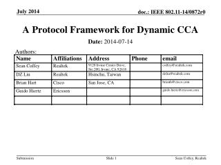 A Protocol Framework for Dynamic CCA