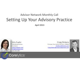 Advisor Network Monthly  Call Setting Up Your Advisory Practice