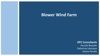 Blower  Wind  Farm