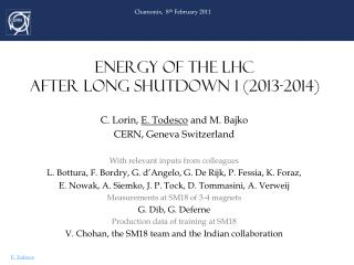 ENERGY OF THE LHC  AFTER LONG SHUTDOWN 1 (2013-2014)