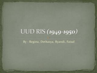 UUD  RIS  (1949-1950)