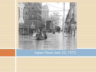 Agnes Flood June 23, 1972