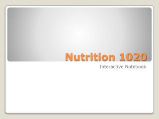 Nutrition 1020