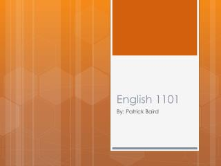 English 1101