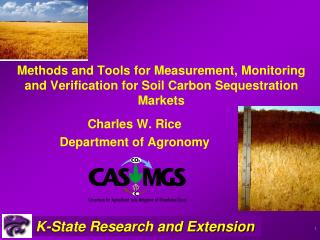 Methods and Tools for Measurement, Monitoring and Verification for Soil Carbon Sequestration Markets