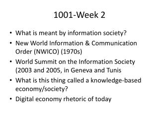 1001-Week 2