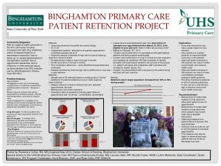Binghamton Primary Care Patient Retention Project