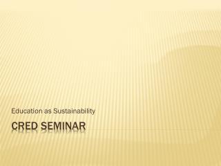CREd Seminar