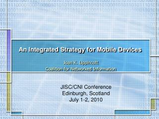 An Integrated Strategy for Mobile Devices