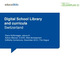 Digital School Library a nd curricula Switzerland