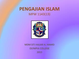 PENGAJIAN ISLAM MPW 1143(13)