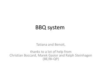 BBQ system