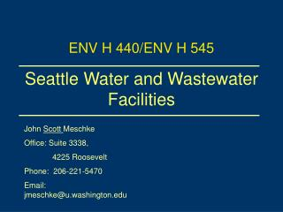 Seattle Water and Wastewater Facilities