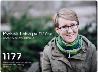 Psykisk hälsa på 1177.se och UMO.se
