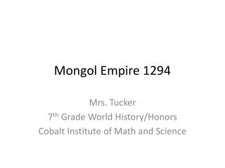 Mongol Empire 1294