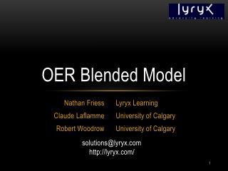 OER Blended Model