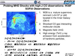 Probing MHD Shocks with high-J CO observations: W28F SOFIA Observations