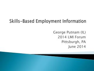 Skills-Based Employment Information