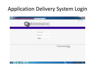 Application Delivery System Login