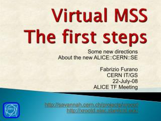 Virtual MSS The first steps