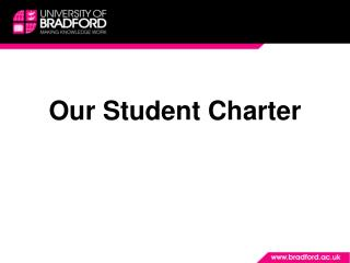 Our Student Charter