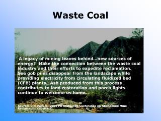 Waste Coal