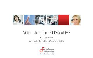 Veien videre med DocuLive