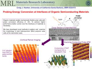 Probing Energy Conversion at Interfaces of Organic Semiconducting Materials