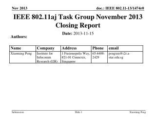Date:  2013 - 11 -15