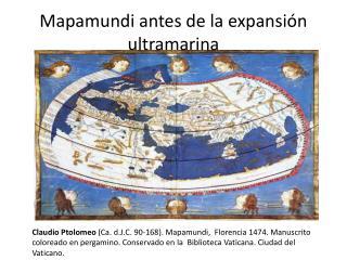 Mapamundi antes de la expansión ultramarina