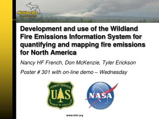 Nancy HF French, Don McKenzie, Tyler Erickson Poster # 301 with on-line demo – Wednesday