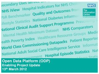 Open Data Platform (ODP) Enabling Project Update 13 th  March 2012