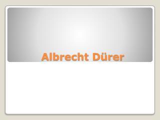 Albrecht D�rer