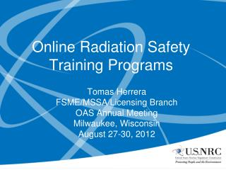 Online Radiation Safety Training Programs