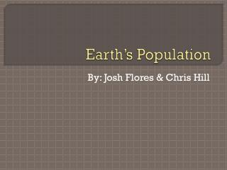 Earth's Population