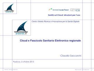 Sanità sul  Cloud : istruzioni per l'uso