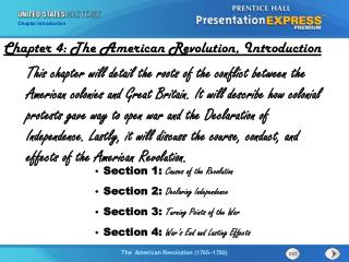 Chapter 4: The American Revolution,  Introduction