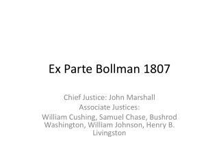 Ex Parte  Bollman  1807