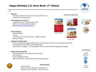Happy Birthday U.S. Army Book- 2 nd  Edition
