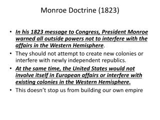 Monroe Doctrine (1823)