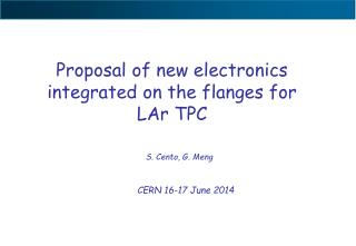 Proposal of new electronics integrated on the flanges for LAr TPC