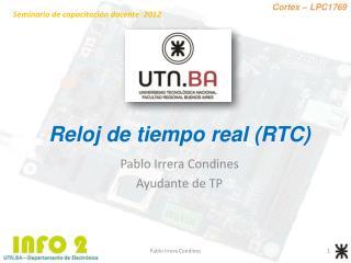 Reloj de tiempo real (RTC)