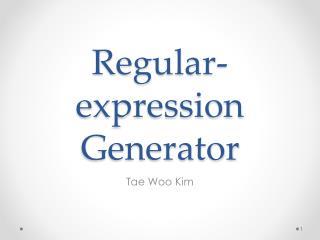 Regular- expression Generator
