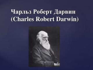 Чарльз Роберт Дарвин ( Charles Robert Darwin)
