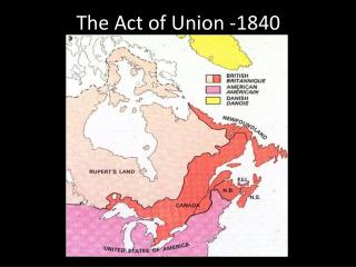 The Act of Union -1840