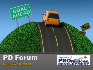 PD Forum  January 16, 2014