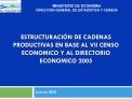 ESTRUCTURACI N DE CADENAS PRODUCTIVAS EN BASE AL VII CENSO ECONOMICO Y AL DIRECTORIO ECONOMICO 2005