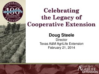 Celebrating the Legacy of Cooperative Extension